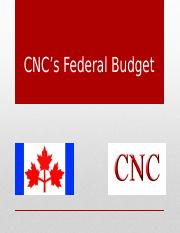 CNC_s_Federal_Budget_1_1_.pptx