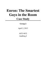 Enron Group 2 Project ACG 4632