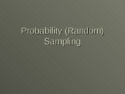 Random_and_Non-Random_Sampling