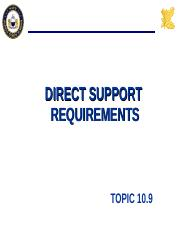 10.9 DIRECT SUPPORT.ppt