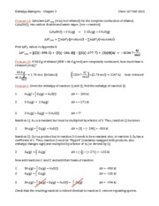 enthalpy examples