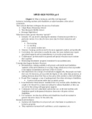 SPED 4020 NOTES pt 4