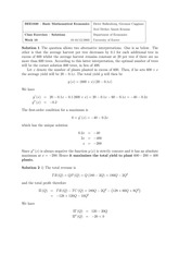 solution week 10 class exercse basic math econ