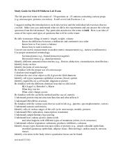 BIO130 STUDY GUIDE Molecular & Cell Biology