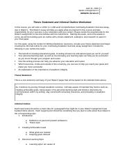 Thesis worksheet doc