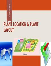 PnOM Module II - Plant Location & Plant Layout.ppt