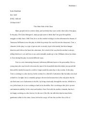 The Glass Menagerie paper