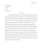 Action essay