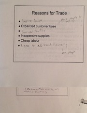 Reasons for trade