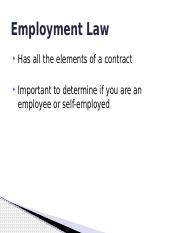 Employment & Agency Law