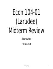 Econ Midterm review