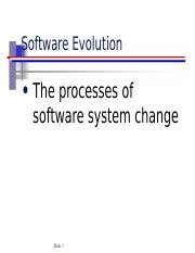 chap9 Software Evolution
