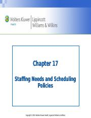 PPT_Chapter_17 ppt - Chapter 17 Staffing Needs and Scheduling