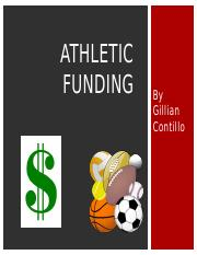 final atheltic funding