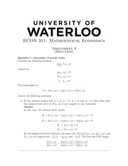 ECON311 Homework3 - Fall 2013 (with solution)