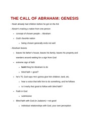 The Call of Abraham - Genesis