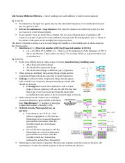 Life Science Midterm II Review - Reading Notes