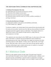 Chapter 8 Malicious Code and Application Attacks