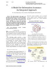 A Model for Information Assurance_An Integrated Approach by Maconachy et al. 2001.pdf