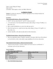 Le Chatelier's Principle Lab Questions?