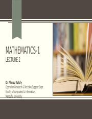 Math_Lecture 2