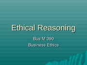 ethical reasoning
