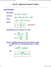 Topic_6N - Applications of Standard Potentials