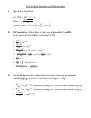Useful Math formulas on Differentiation_revisedOct31st