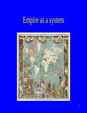empire as system Spring 2017