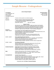 ENG_Sample_Resume_Undergraduate