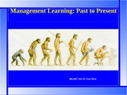 MGMT101 L2 16 Jul 14 Management Learning Past to Present bb