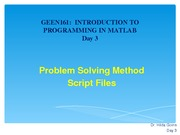 Problem Solving Method Script Files Lecture Material