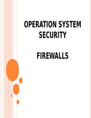 Operation System Security (firewalls)