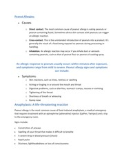 Allergies Review Sheet