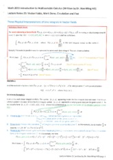 Lecture Notes 21 Vector Fields, Work Done, Circulation and Flux.pdf
