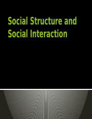5_Social Structure and Social Interaction.pptx