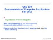 cse530-Superscalar_Datapaths