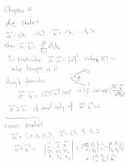Notes31_nov25_revision dot products, cross products, equations of linear planes, curves