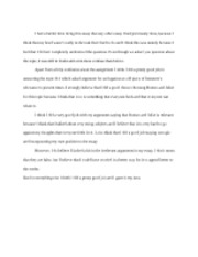 Cover Letter Essay #1