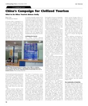 Chio (2010) China's Campaign for Civilized Tourism