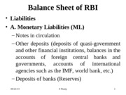 Session 7 & 8_Balance Sheet of RBI & Its Functions
