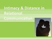 2011 Chapter 9 Intimacy & Distance in Relational Communication Student Version