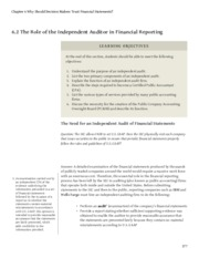 business-accounting Chapter 6 Why Should Decision Makers Trust Financial Statements.6.2 The Role of