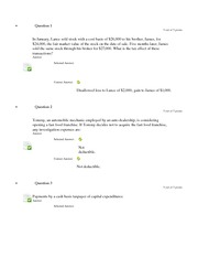 ACC 307 Mid Term Exam Part 2 with answers