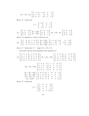 Linear Algebra Solutions 20
