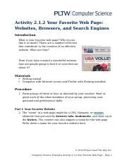 2.1.2.A YourFavoriteWebPage