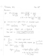 electronic Tutorial 6 Solutions