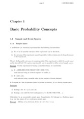 Basic Probability Concepts