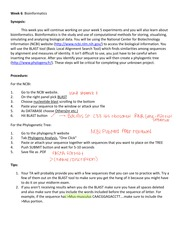 bioinformatics (with student notes)