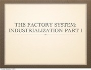 The Birth of the Factory
